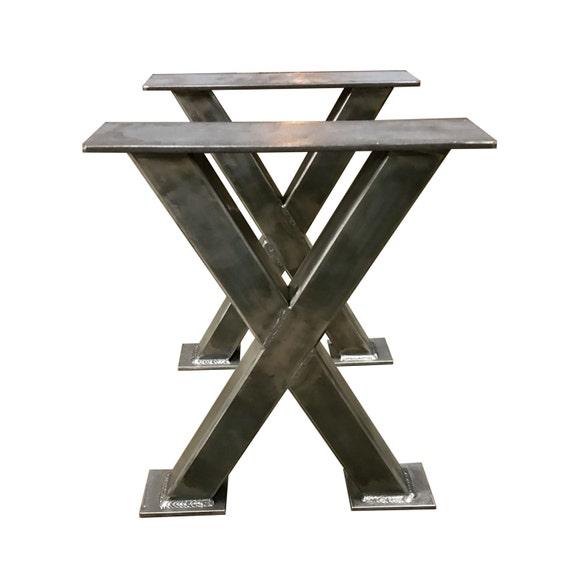 metal bench legs 2x2 tubing custom made box legs steel. Black Bedroom Furniture Sets. Home Design Ideas