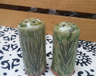 Handmade Stoneware Salt and Pepper shakers