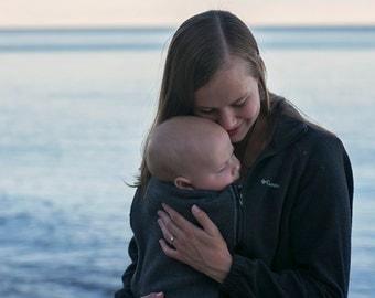 Baby wearing jacket insert/extender