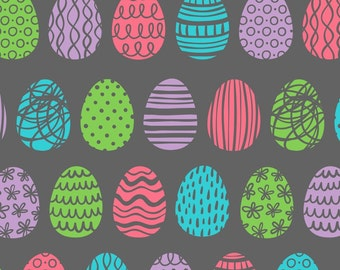 Colorful egg patterns on permanent adhesive (sign vinyl)