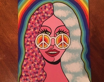 groovy girl painting