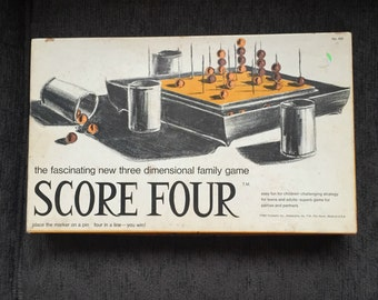 Score Four Three Dimensional Game