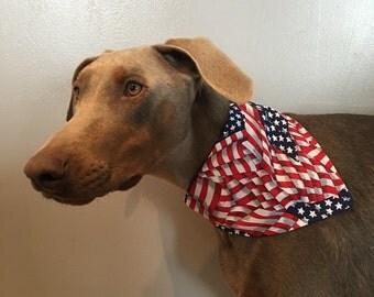 Med/Large American Flag Dog Bandana