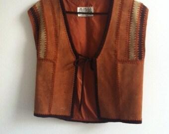 70's boho skirt and waist coat.