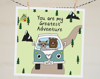 You Are My Greatest Adventure Card | Funny Valentine's Day Card | Valentine's Card | Personalised Card | Anniversary Card For Boyfriend