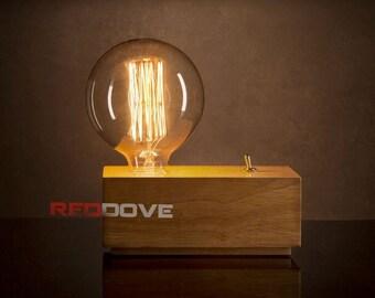 Vintage retro style Edison lamp inc XXL Globe Filament Bulb perfect Fathers day Gift