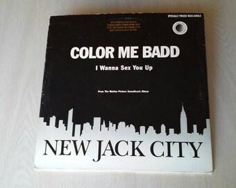 """Color Me Badd ~ New Jack City Soundtrack ~ 12"""" 33 1/3 vinyl single ~ DJ mix ~ 1991"""
