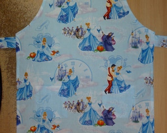Apron for kid / Cinderella / Disney Princess, apron, kids apron, kitchen apron, kids kitchen apron