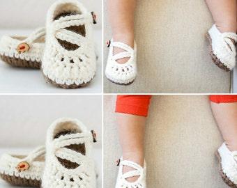 Crochet booties - Kriss Kross Mary Janes