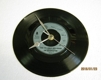 """The Housemartins - """"Think For A Minute"""" Vinyl Record Wall Clock"""