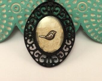 Bird Resin Pendant