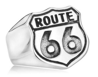 Route 66 ring stainless steel 316L for him and her