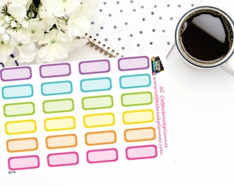 Planner Stickers | Personal Sized Planner Sticker Boxes| For use in a variety of planner types|B018