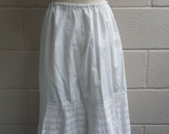 Job lot of 2 White Cotton Victorian? Petticoats