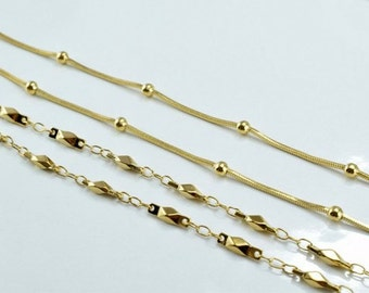 """18K Gold Filled Chain 17"""" Inch"""