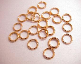6mm Open Jump Ring Gold Filled,  18 Gauge. GF7005