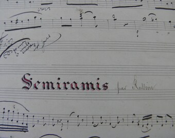 Sheet music: The mascot or ROBERT or MACBETH or Santa Cecilia or another, handwritten in Verdun in 1899 to the choice