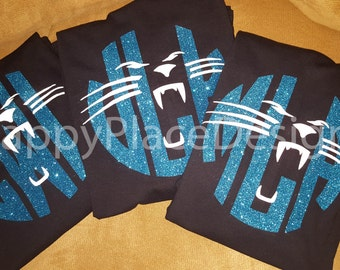 Carolina Panthers, Football, Panthers Shirt, Carolina, Personalized Glitter, Monogram Shirt, Custom T-Shirt, ***Short Sleeve***