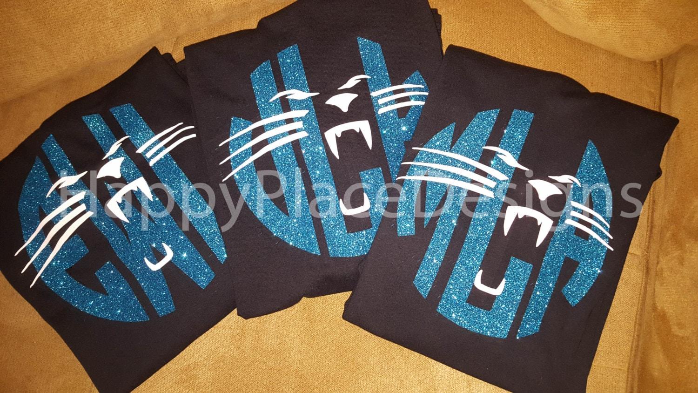 Design your own t shirt in pakistan - Carolina Panthers Football Panthers Shirt Carolina Personalized Glitter Monogram Shirt Custom T Shirt Short Sleeve