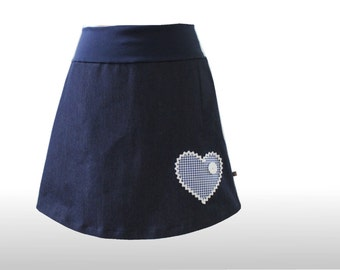 Jeans skirt 36 costumes look dress time A-line mini skirt, denim skirt, a-line skirt, Womans skirt, A line skirts