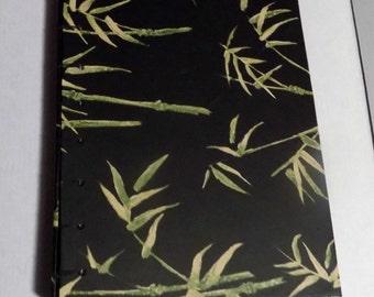 Black bamboo blank book