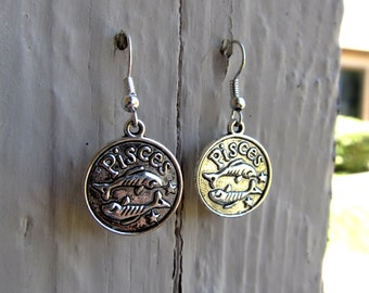 Silver Pisces Earrings