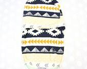 Aztec Mint & Gold Swaddle Wrap | Tribal Baby Swaddle