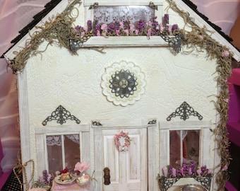 Dollhouse miniature dollhouse shabby chic dollhouse pink princess miniatures