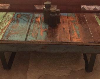 Reclaimed cedar coffee table