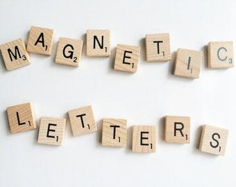 Single letter fridge magnets - Fridge magnets - Office magnets - Alphabet magnets - Kitchen decor - Wooden magnets - Number magnets