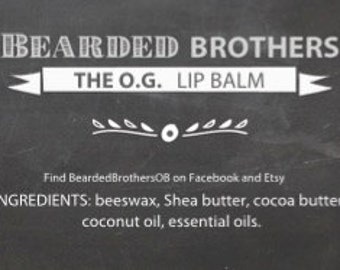 Lip Balms by Bearded Brothers Oils & Balms