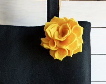 Felt Flower Brooch, Felt Brooch, Yellow Rose, Flower Rose Brooch, Felt Flower, Pin Rose, Womens Accessories, Decorative Brooch, Brooch Rose