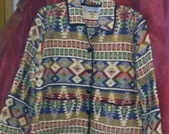 Boho Native American print jacket