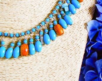 Necklace, vintage necklace, 1970's necklace, boho necklace