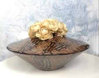 Coconut twigs Inlay Vase