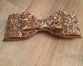 Gold large over sized chunky glitter hair clip