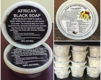 Mango Butter + Black Soap - 8oz Tub Combo