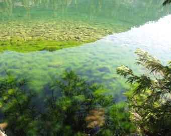 Lake reflections to Champeix (5/15)