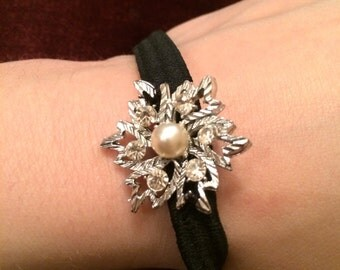 Vintage snow flake bling head band