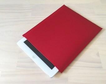 Red iPad Sleeve, iPad Air, iPad Air 2, iPad Mini, iPad Pro, iPad 2, Handmade iPad Case, PU Leather Case, Vegan Leather, Minimalist Design