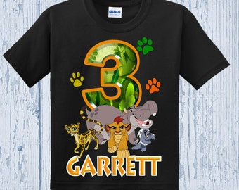 Lion Guard Birthday Shirt - Lion Guard Shirt - Other Colors Available