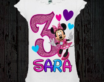 Minnie Mouse Birthday Shirt - Minnie Mouse Dress or Shirt