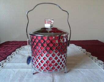 1960's ice bucket lucite handle