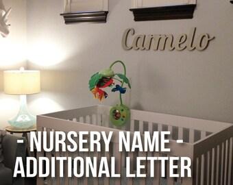 Additional Letter(s) for NUR100 Nursery Name Sign