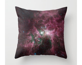 Nebula Pillow Cover, Outer Space Galaxy Astronomy Pillow Cover, Cosmic, Carina Nebula