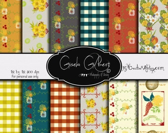 Country Fall Digital Paper
