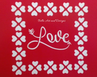 List 7 Valentine's Day stencils *Free gift with every order*
