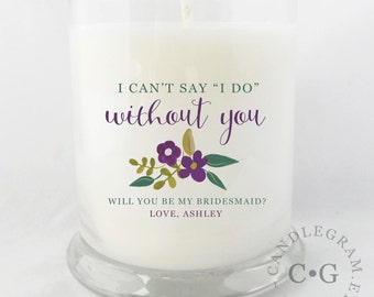 Will you be my Bridesmaid Gift // Will you be my Maid of Honor Gift // Bridesmaid Candle // Maid of Honor Candle // Bridesmaid Gift Idea