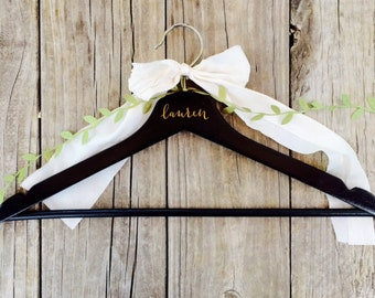 Personalized Clothes Hanger || Painted Wood