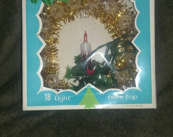 Vintage Happy Holidays brand 18 light tree top, ***CLEARANCE****